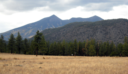 Flagstaff has amazing views and you will enjoy many outdoor and natural adventures in the area. This is a view of the San Francisco Peaks from Buffalo Park.
